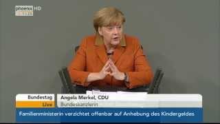 Bundestag - Regierungserklärung von Angela Merkel am 29.01.2014