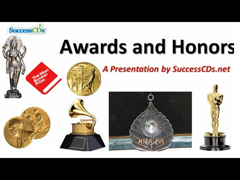 Popular Awards Prizes and Honours | General Knowledge Videos