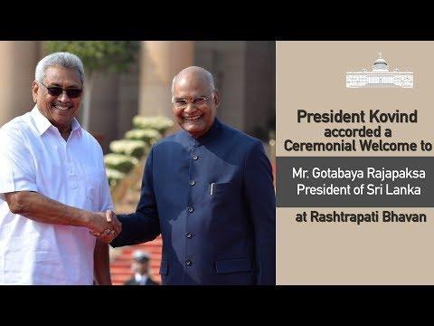 Ceremonial Welcome of President Gotabaya Rajapaksa of Sri Lanka at Rashtrapati Bhavan