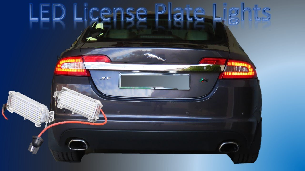Replace Your Jaguar XF License Plate Lights With Sealed LED