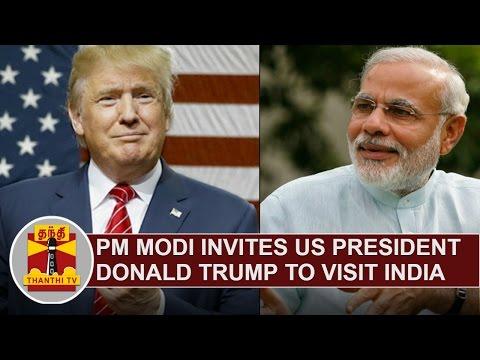 PM Narendra Modi invites US President Donald Trump to visit India | Thanthi TV