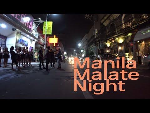 MANILA, LA CAFE, MALATE  STREET JUST WALKING AT NIGHT(PHILIPPINE 2018)(필리핀 마닐라 말라테) Part2