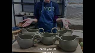 Throwing and Altering a Gravy Boat on the wheel BONUS 3 handles