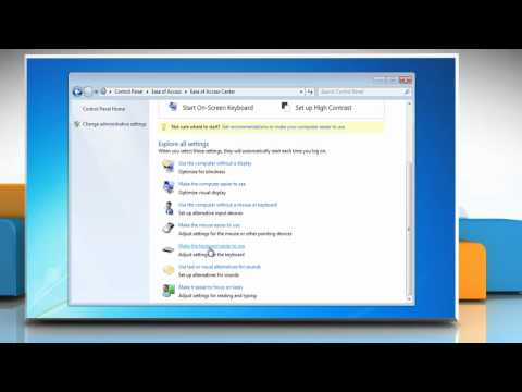 Windows® 7: Use keyboard to move cursor using MouseKeys
