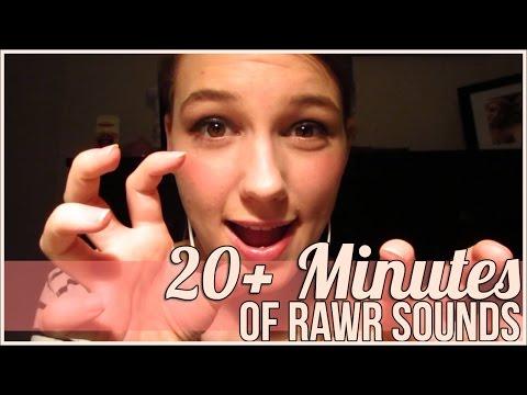 [BINAURAL ASMR] 20+ Minutes of Rawr Sounds