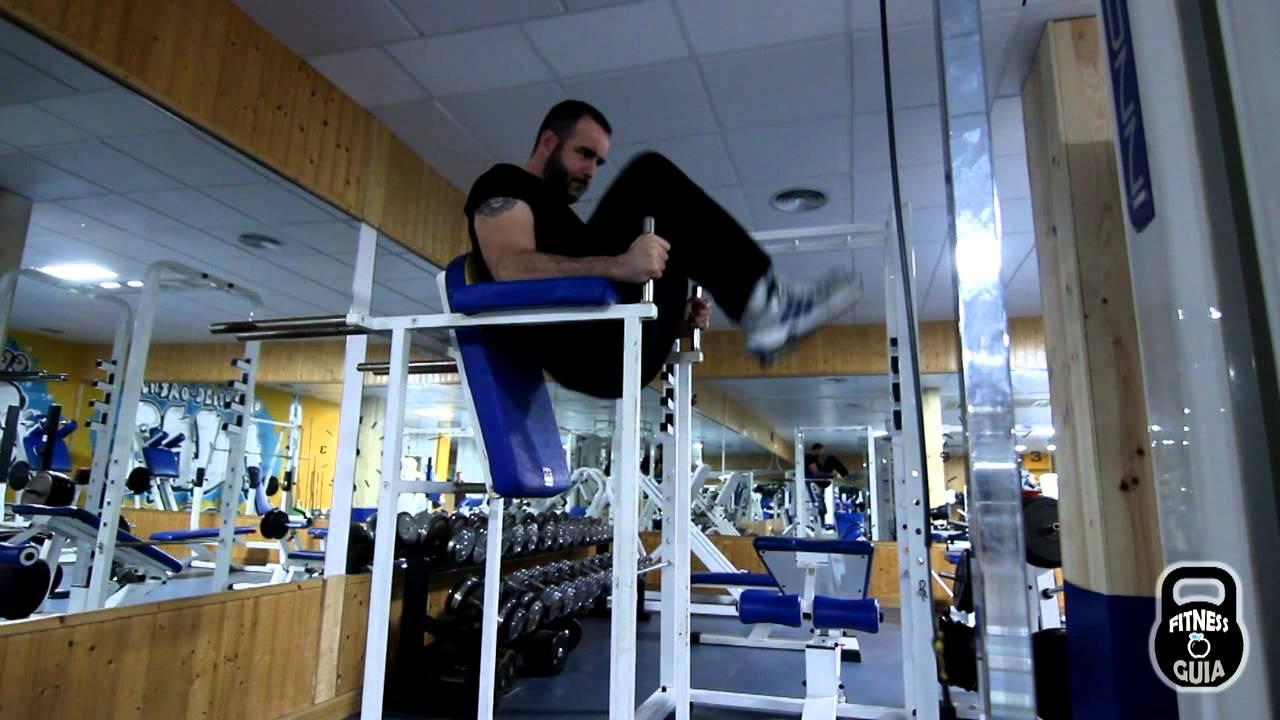 Abdominales inferiores maquina youtube for Maquinas para gym