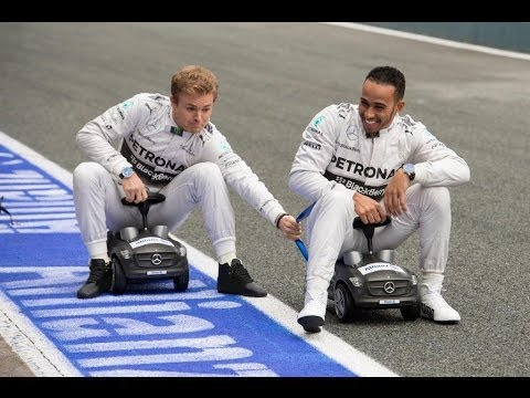 Photo of Nico Rosberg & his friend  Lewis Hamilton