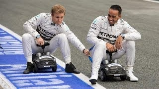 Allianz Safety Facts - Seatbelt - with Nico Rosberg and Lewis Hamilton