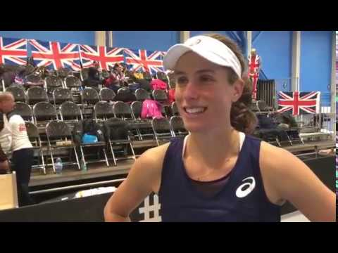 Johanna Konta interview after victory over Ostapenko in the Fed Cup