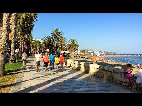 MÁLAGA WALK | Beach Promenade From Malagueta To Caleta Beaches | Spain