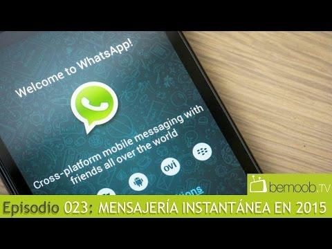 bemoobTV 023: WhatsApp, Telegram y más en 2015
