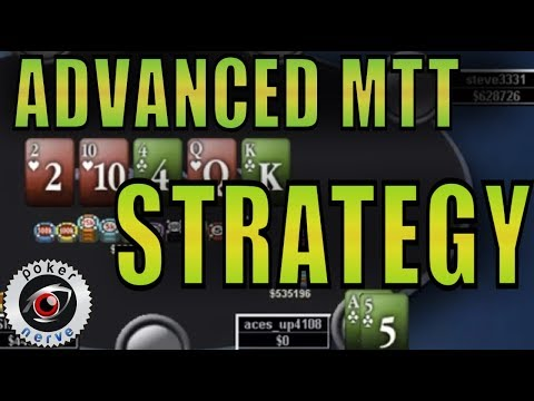 Tournament Poker Advanced Strategy | Pokernerve | Acesup