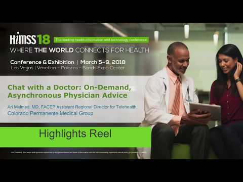 HIMSS18: DR Ari Melmed Highlights Reel