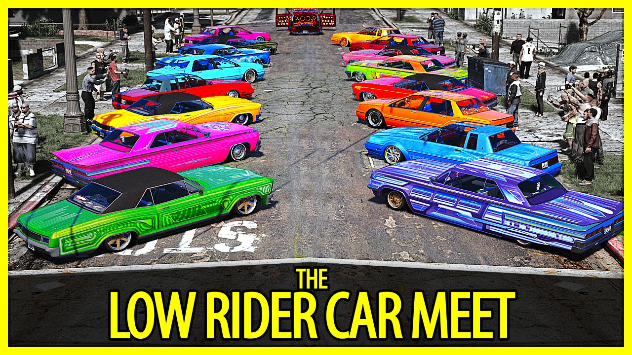 gta 5 the low rider car meet gta v pc editor youtube