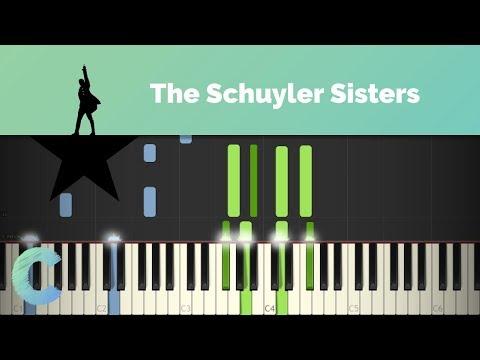 Hamilton - The Schuyler Sisters Piano Tutorial