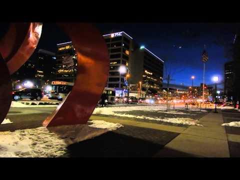 Pratt & Light Sts. Planet & Moon in Baltimore