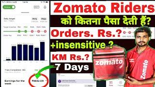 How much do zomato riders earn? || Target Insensitive || zomato salary || Zomato Rate Card