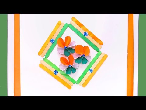 Indian tricolor flower Paper Craft | DIY crafts | How to make minute crafts for kids | easy origami