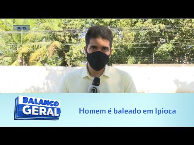 """Em Ipioca: Homem é baleado com tiro, """"invade"""" posto é socorrido pelo SAMU"""