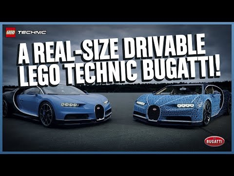The Amazing Life-size LEGO Technic Bugatti Chiron that DRIVES! thumbnail