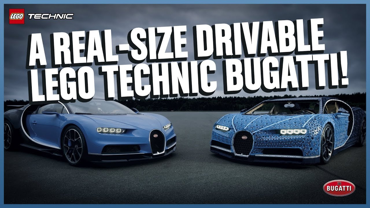 The Amazing Life Size Lego Technic Bugatti Chiron That Drives Youtube