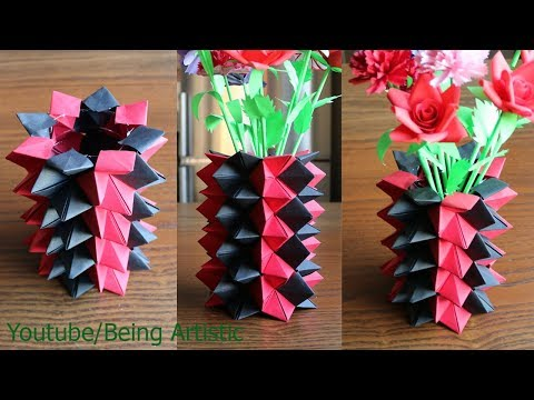How to make a beautiful paper flower pot