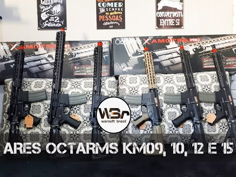 REVIEW PT-BR / ARES OCTARMS KM09, KM10, KM12 e KM15 - WARSOFT BRASIL