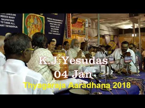 171st Thyagaraja Aaradhana Music Festival 2018 : LEGEND K.J.Yesudas Live 0n 04 Jan