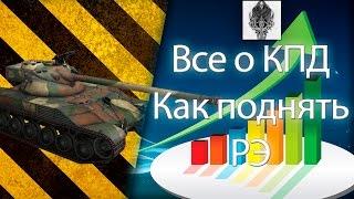 Все о КПД #2 Как поднять РЭ (Рейтинг эффективности) World of Tanks