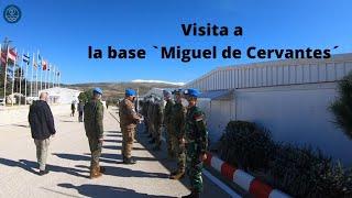 UNIFIL's Force Commander visits Sector East's HQ at 'Miguel de Cervantes' Base