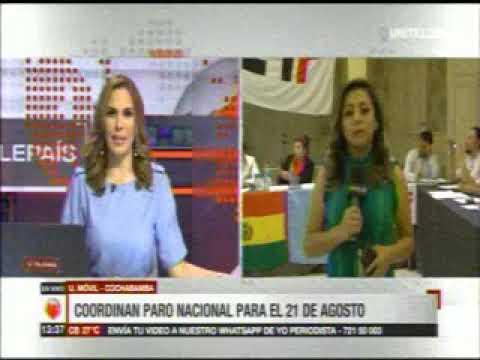 Reunión en Cochabamba previa al paro nacional