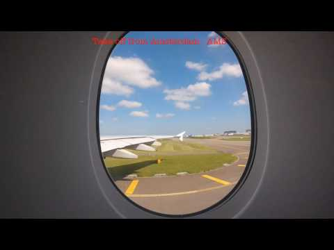 Amsterdam, Netherlands to Trivandrum, India Flight time lapse