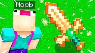NOOB Crafts $1,000,000 MASTER GOD Sword in Minecraft!