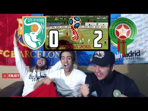 MOROCCO TO 2018 WORLD CUP !!! MOROCCO 2-0 IVORY COAST - LIVE REACTION