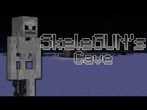 Minecraft: SkeleGUN's Cave - Spooksy! (Minecraft Horror Map)