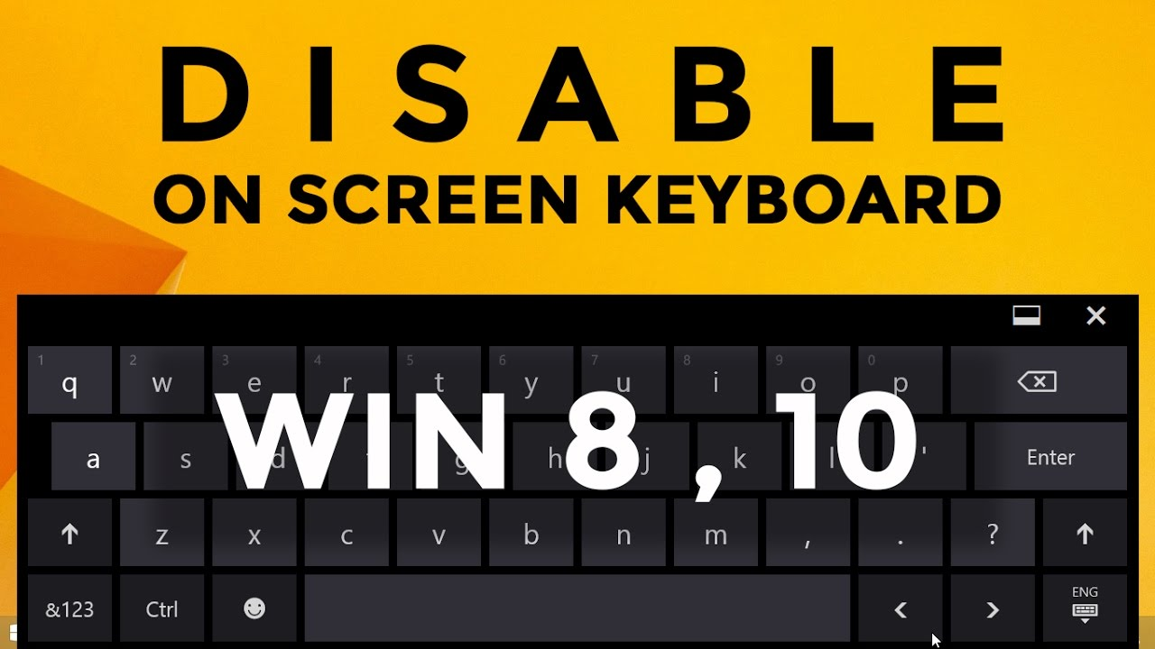 How to disable on screen keyboard windows 8, 10 | Disabling touch keyboard  in windows 10