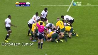 [WORLD CUP 2015] Unbelievables scrums between Fiji and Australia : 20 seconds long !!