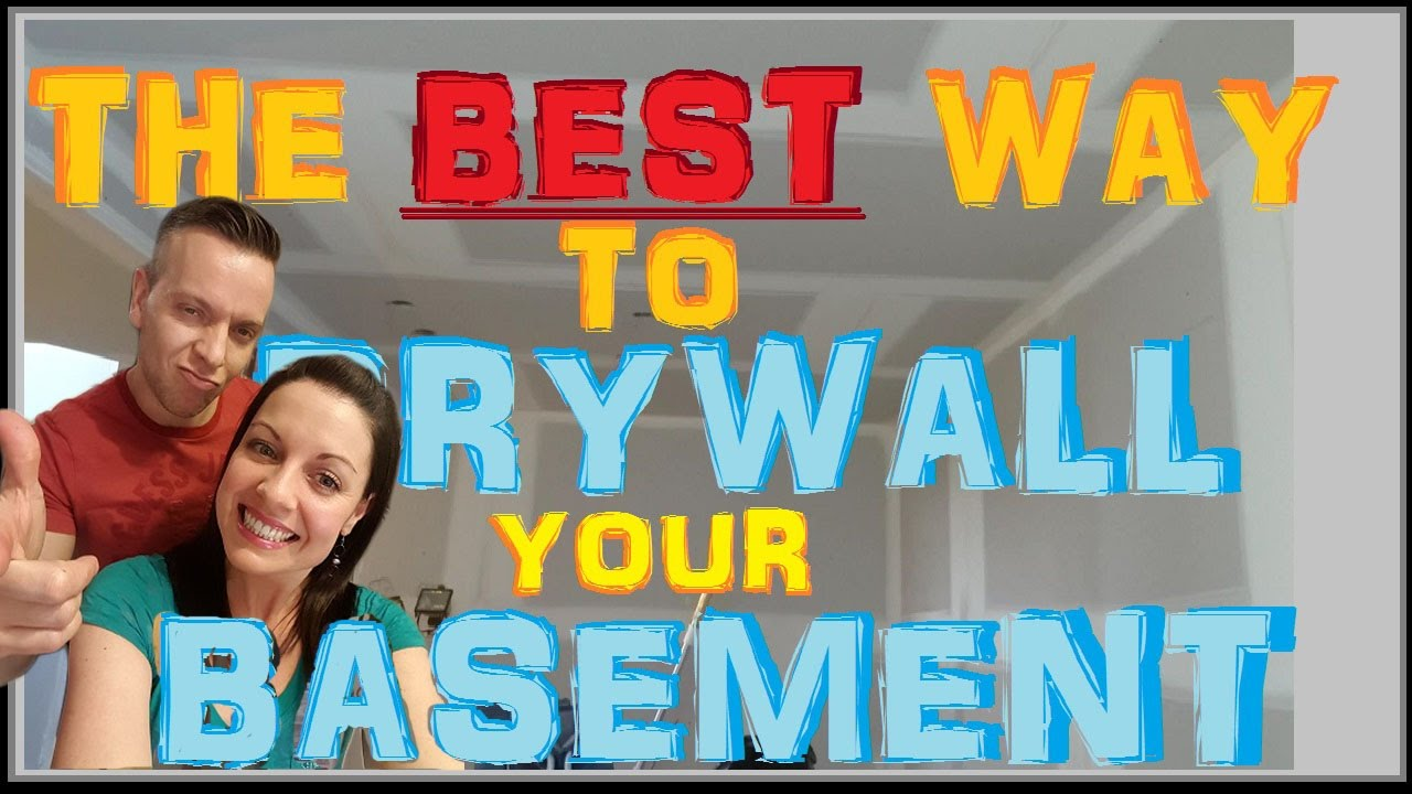 How To Hang Drywall On Basement Ceilings Best Sheetrock Installing Method Apartment 10of14