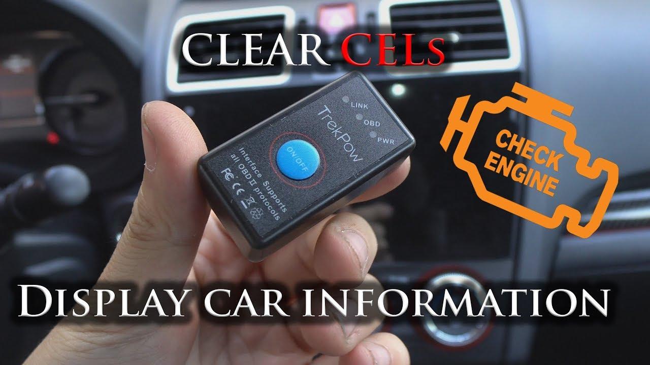 IOS und Windows Dedicated OBDII Auto-Diagnose-Scan-Tool mit Schalter Auto Sleep und Free Professional APP TrekPow Android Globmall Bluetooth 4.0 OBD2 Scanner