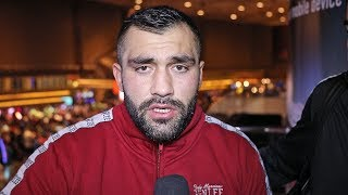 Pacquiao v Thurman Undercard | ALI EREN DEMIREZEN talks before facing Efe Ajagba in the ring