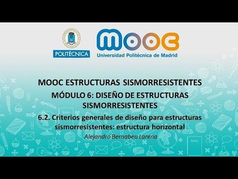 Mooc Sismo 6 2 Criterios Generales De Diseño Para Estructuras Sismorresistentes