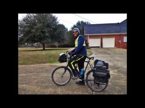 USA bicycle tour 48 states Part 16 Alabama Mississippi Tennessee