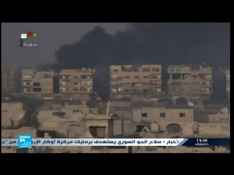 قصف وغارات سورية على مخيم اليرموك والحجر الأسود قرب دمشق