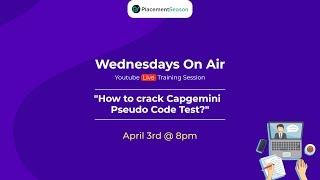 How to crack Capgemini  Pseudo Code Test?