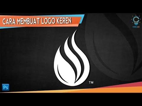 Cara membuat logo brand sendiri sederhana dengan photoshop.