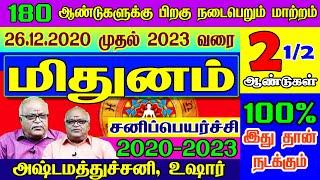 மிதுனம் சனி பெயர்ச்சி பலன்கள் 2020-2023     Mithunam   Sani Peyarchi palangal 2020   2020-2023