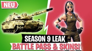 SEASON 9 *LEAKS* STUFE 100 SKIN & NEUE ITEMS! | Fortnite April Royale