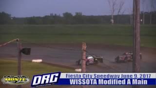 Fiesta City Speedway 6/9/17 WISSOTA Modified Highlight