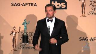 Leonardo DiCaprio Wins Best Actor Press Room 22nd SAG Awards