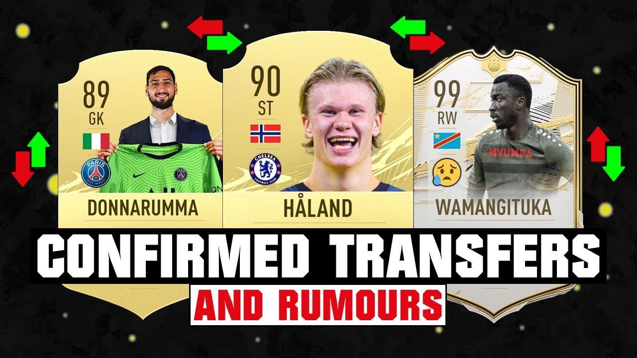 FIFA 22 | NEW CONFIRMED TRANSFERS & RUMOURS! 🤪🔥 ft. Haaland, Donnarumma, Wamangituka... etc